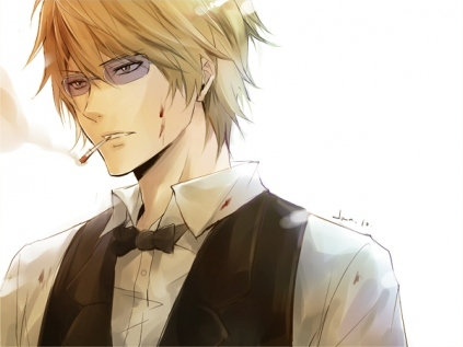 Hmm.. Probably either Shizuo from Durarara или Vash from Trigun. :D