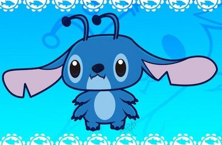 It's Stitch isn't he cute!! <3