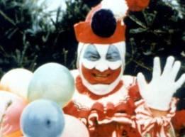 John Wayne Gacy, esp in clown form: