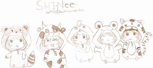 """The latest one I uploaded my SHINee fan art, it came out kind of crappy e.e"""""""