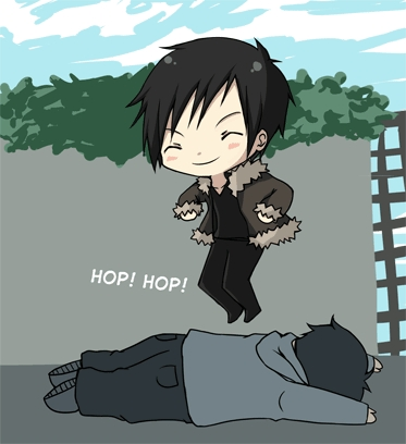 I am a mix of a lot of characters. But the one I think my personality is the closes to is Izaya Orihara I guess. I am also like Haruhi Suzumiya in some ways.