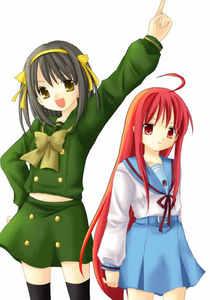 Haruhi and Shana crossover