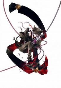 from vampire knight: Takuma Ichijo and Senri Shiki and from pandora hearts: Xerxes Break and Cheshire