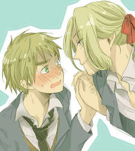 That picture is adorable! AmeriPan is my Sekunde Favorit Hetalia pairing. My first is FrUk. Haters gonna hate. ;D