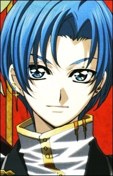 tooru kouno from Princess Princess a high school student who studies in an all boys school and he's also a vượt qua, cross dresser (so bạn can also see him in long blue wig)