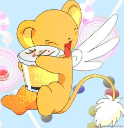 kero-chan from Card captor sakura loves all sorts of sweets!