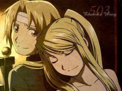 Edward and winry from full metal alchemist