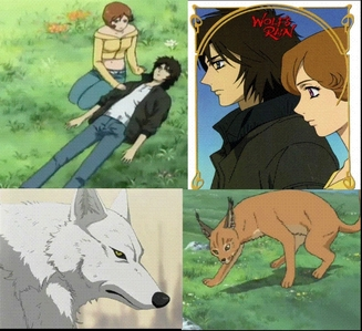 i would say Kiba and Myu. yes the different species but aren't they cute together. tu have to watch wolf's rain to understand the species thing. Kida: a lobo in real form Myu: a bobcat in real form