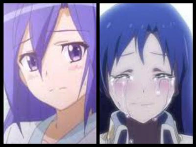 Tsubasa from Senki Zesshou Symphogear and Chihaya from The Idol M@ster