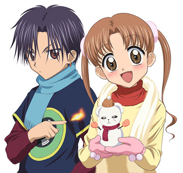 Mikan and natsume from Gakuen Alice... They like each other but they are still not a couple.....(I know their kids!!!) XD