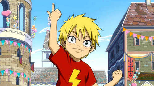 I think all the Fairy Tail Characters are cute as kids. Although Laxus is adorable X3