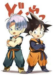two of them trunks and goten