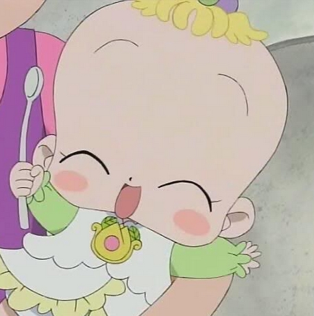 Mine is definitely Baby Hana-chan from Ojamaro Doremi! she's just so kawaii!