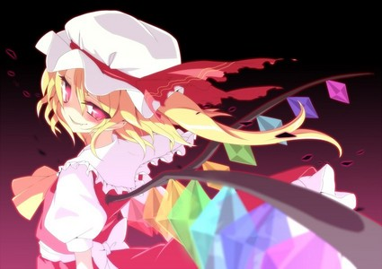 Flandre I mean just look at that face give me chills oder that could be just because of how hard it was to beat her =.=