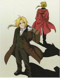 I like Edward Elric's outfit in the movie and the show.