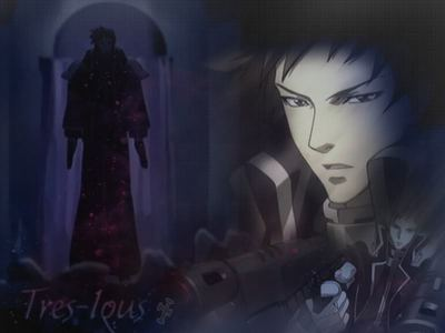My 1st crush was Tres Iqus aka Gunslinger - Trinity Blood, an he's not even human, he's an android. Altho i have other crushes now, i still think he's hot an a badass even Mehr so in the manga! I'ma ho that way XD