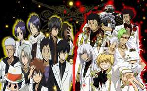 All in this picture from KHR!Vongola Famiglia & Varia!