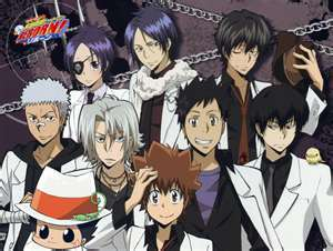 Try watch Katekyo Hitman Reborn! It have many good history like their Family's history,Arcobaleno's history and many more!!!!!!!!Anyway,just go and try to watch!!!!!!!