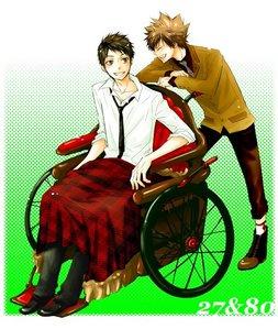 This one,from KHR!Sawada Tsunayoshi(27)& Yamamoto Takeshi-kun(80)..........