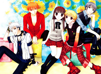 fruis basket full of romance and comedy about a girl with no mother who joins the sohma family who learns there family secret