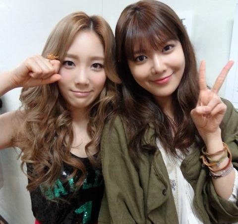Taeyeon and Hyoyeon :)