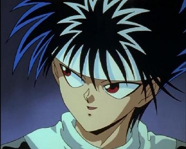 Hiei from Yu Yu Hakusho has Red eyes!