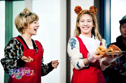 Sunny and Hyoyeon. Because their always sooooooo cute and funny! ^^