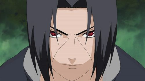 Itachi? :3 (obviously it's the sharingan but yeah, he lebih atau less keeps it like that anyway :D)