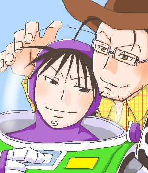 哈哈 Roy and Maes as Buzz and Woody! LMFAO