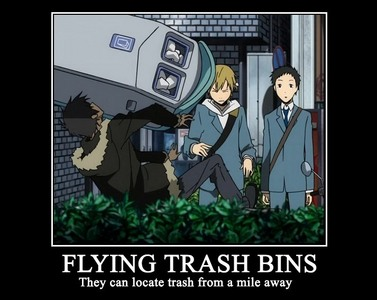 This one. It makes me laugh whenever I see Durarara. XD