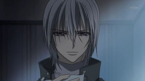 my first name is Shiva, so the third letter is i. Ichiru from vampire knight strats whit a i.