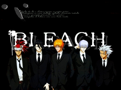 Bleach!!!!!!!!!!!!!!!!!!!!!!!!!!!!!!!!!!!!!!!!!!!!!! Also: Soul eater One Piece naruto Full metal alchemist Evangelion Yu yu hakisho