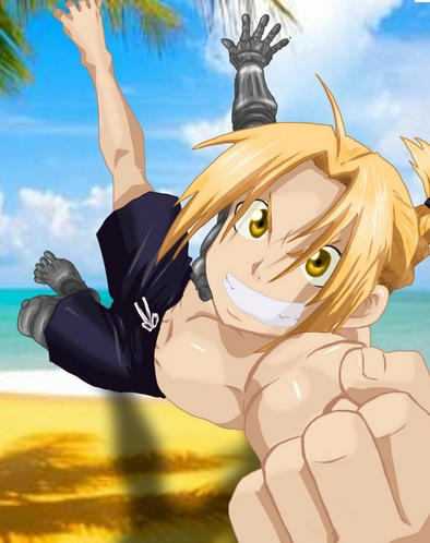 Okay! Here's a picture of Ed from FMA at the beach!