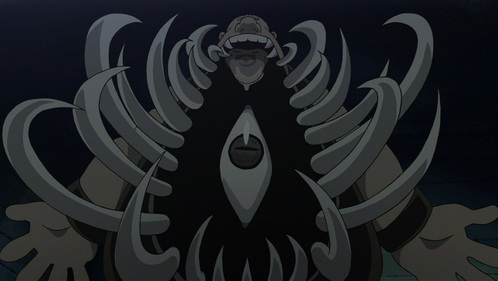 a screen-cap of full metal alchemist brotherhood that teaches u to NEVER mess with gluttony ^_^