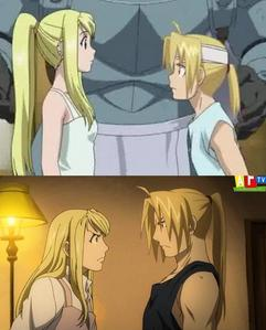 Ed x Winry ._. A sceenshot of FMAB though ._.