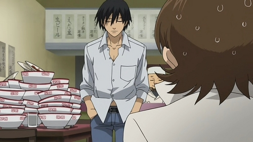 Hei - Darker Than Black An yea, he ate all that! XD