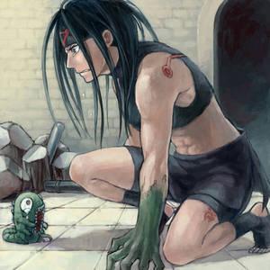 Envy from Fullmetal Alchemist.