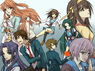 The Melancholy of Haruhi Suzumiya, K-ON!!, Lucky Star, Shinchan... But my most 最喜爱的 is The Melancholy of Haruhi Suzumiya!!!
