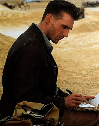 """Right now I'm thinking of Ralph Fiennes because I just saw """"The English patient"""" on tv. But before that I was thinking of somebody I like..."""