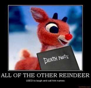 I would write there names... Just like Rudolph here.