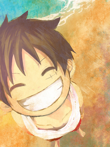 Here's a non-creepy picture of Luffy from One Piece 哈哈