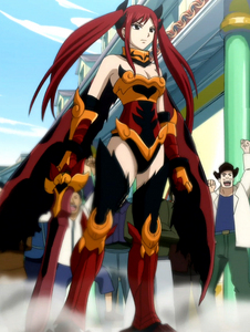 Erza Scarlet in her Flame Empress armor XD