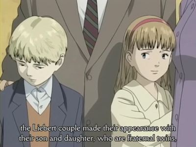 Anna Liebert / Nina Fortner, from Naoki Urasawa's MONSTER Sorry her brothers in the picture there always together. and yes she has blond hair, dirty blond