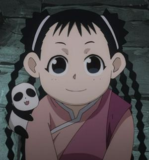 That little May Chang from FMAB. Ya know, the one with that biting finger loving kawaii panda Xiao-Mei ._.