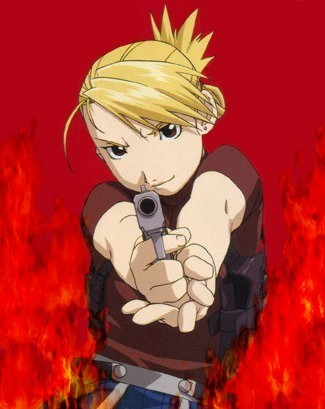 I honestly think certain traits of mine are like a lot of different characters. I can't choose one really. I'm a lot like Edward Elric and sort of like Ciel Phantomhive in some ways. Ughhh can't choose! i'll go with.... Riza Hawkeye