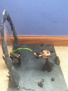 I sculpted a scene from Harry Potter and the Order of the Phoenix. It's the part where Bellatrix kills Sirius.