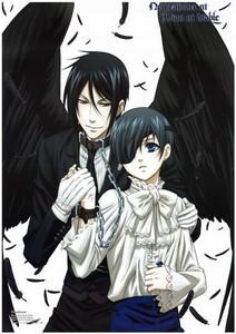 Both Ciel and Sebastian have pale skin