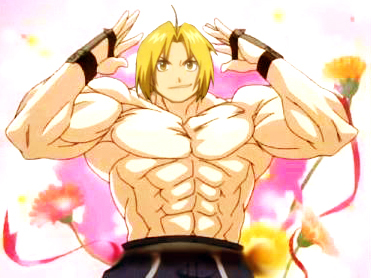 Not very creative/inventive (at least not at the moment) so I'll say Edward Elric from Fullmetal Alchemist because he's just an insgesamt amazing Anime character. He's really beautiful as well. <3