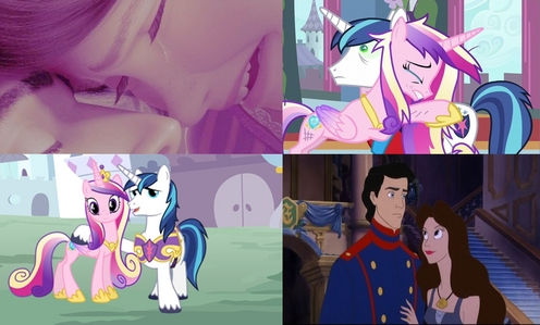I agree with darkling_menace about Princess Cadance being like Ariel. This dag Aria really did seem like Vanessa's song in the The Little Mermaid. However, I also think she is like Rapunzel because it was Cadance's love that saved Shining Armor and Equestria. Just like how Rapunzel's love for Eugene allowed her tear to heal him. Also the colors of Cadance match the colors of Rapunzel's purple dress.