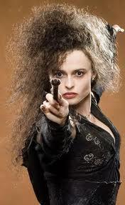 *Hides behind Bellatrix* Defend your master!